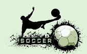 Grunge Soccer Ball background poster