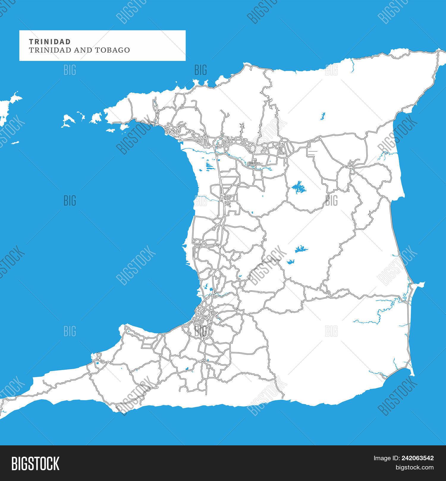Map Trinidad Island Vector & Photo (Free Trial) | Bigstock