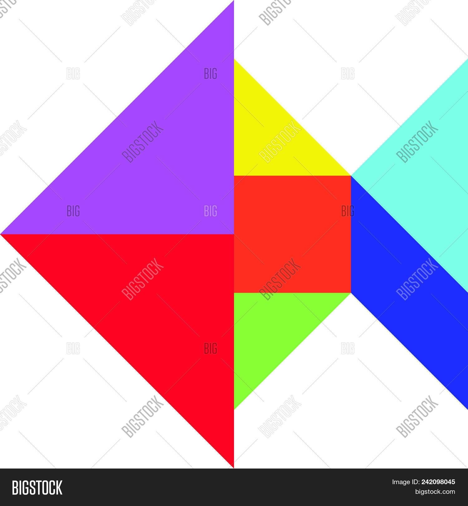 Color Tangram Fish Vector & Photo (Free Trial) | Bigstock