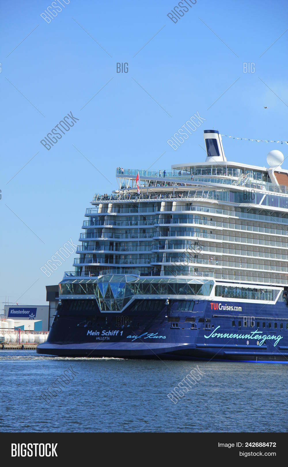 Velsen, The Netherlands - May 7th 2018  Mein Schiff 1, Tui Cruises On 6dffad9f88