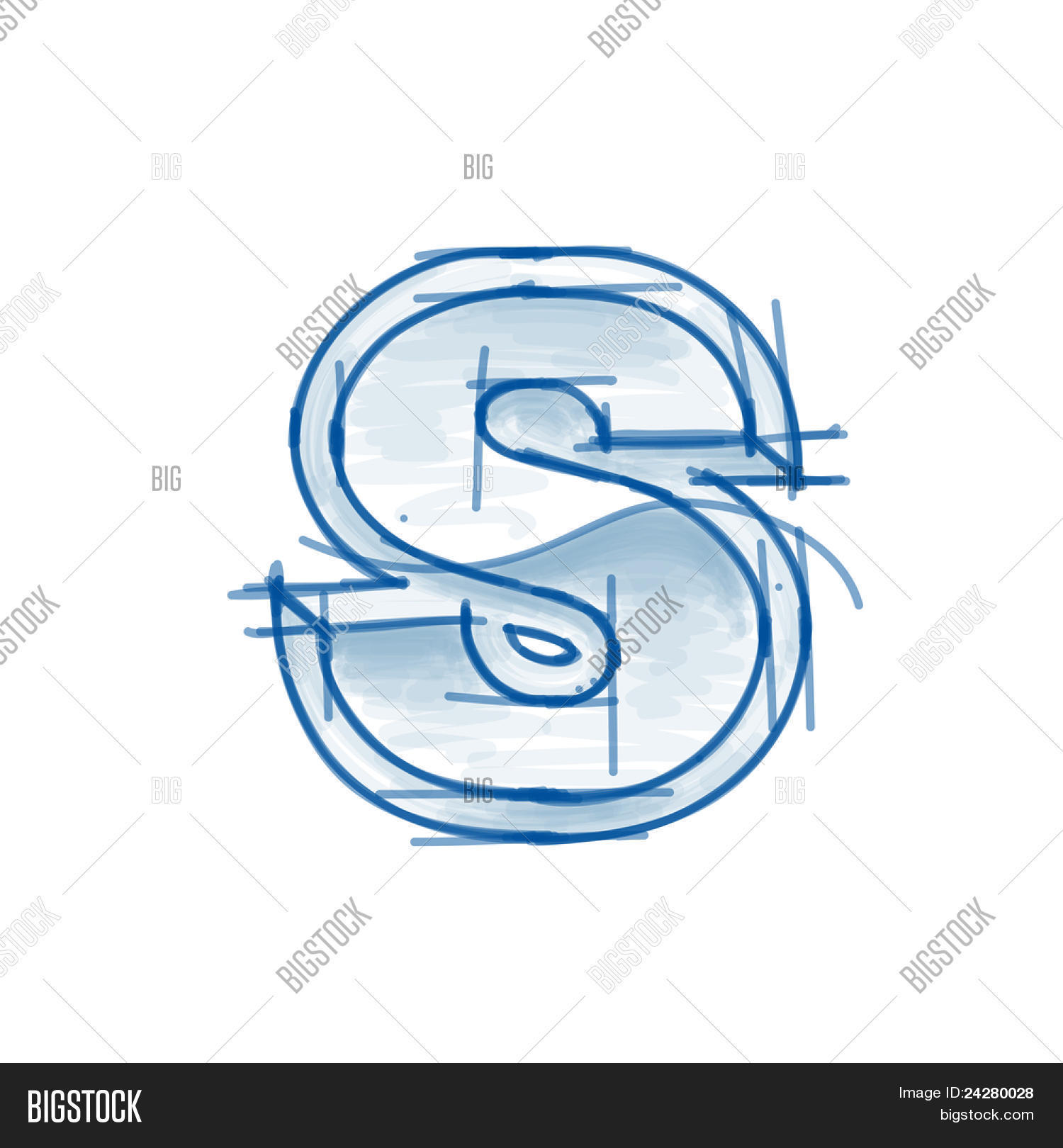Blueprint font sketch vector photo free trial bigstock blueprint font sketch letter s marker drawing malvernweather Images