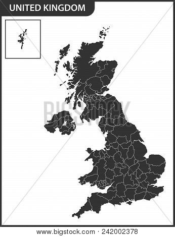The Detailed Map Of The United Kingdom With Regions Or States. Actual Current Relevant Uk, Great Bri