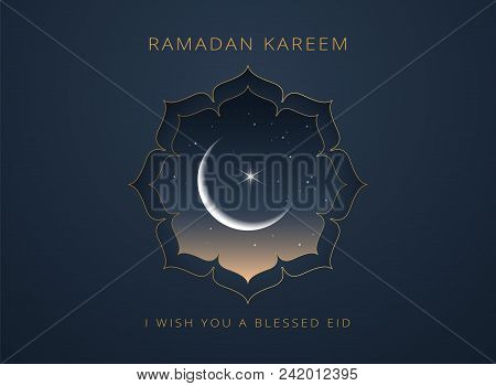 Ramadan Kareem Greeting Card Vector Design