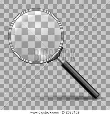 Magnifying Glass. Magnifier Or Lupa Vector Icon For Zoom Scrutiny, Search Or Magnify Buttons