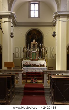 Altar In The Old Church