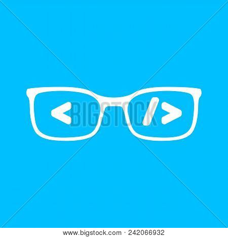 Flat White Glasses Vector Photo Free Trial Bigstock