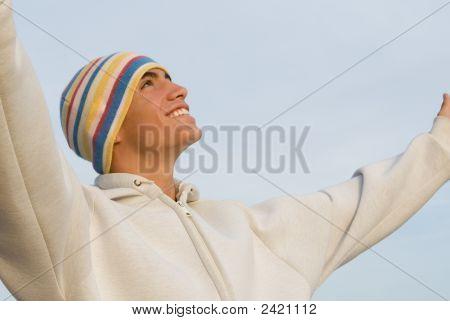 Faith, Happy Smiling Hispanic Youth