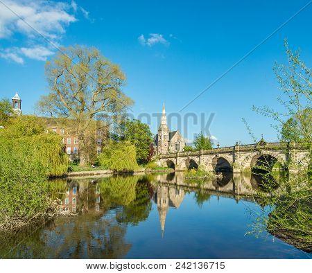 English Brigde Over The River Seven In Shrewsbury.