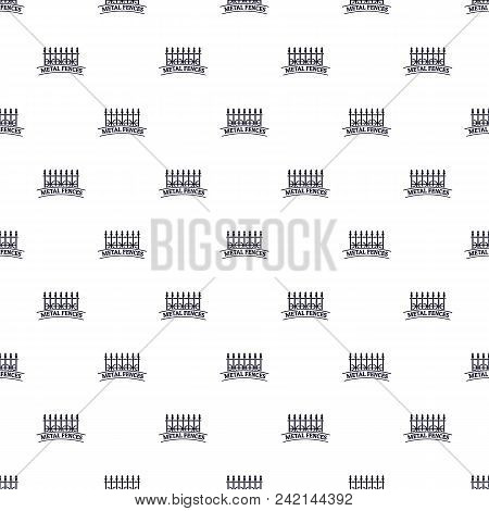 Fence Iron Pattern Vector Seamless Repeat For Any Web Design