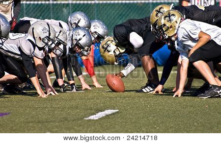 Youth League Football Line of Scrimmage