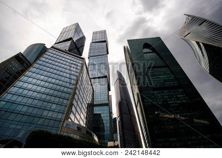 Moscow, Russia - May, 18, 2018: Skyscrapers of Moscow city.