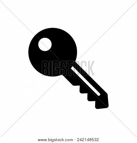 Key Vector Icon Flat Style Illustration For Web, Mobile, Logo, Application And Graphic Design. Key V