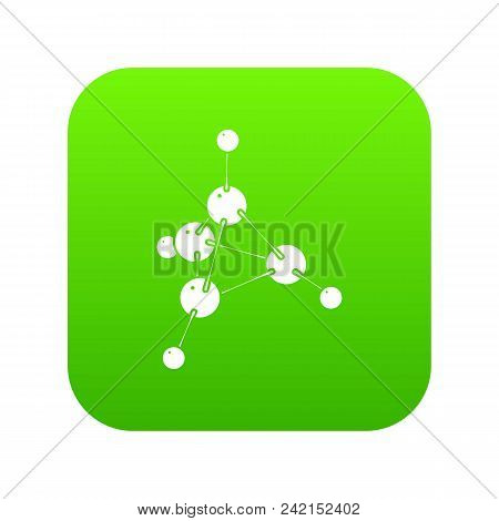 Methanol Icon Green Vector Isolated On White Background