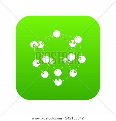 Glucose Icon Green Vector Isolated On White Background