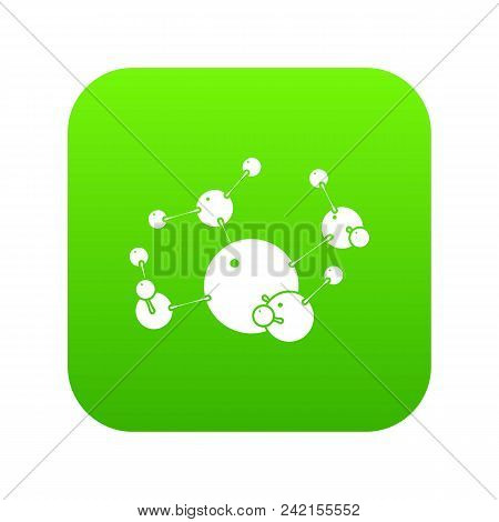 Butane Icon Green Vector Isolated On White Background