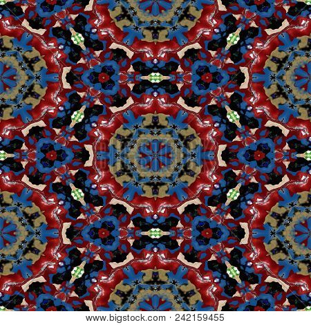 Spot Kaleidoscopic Seamless Generated Hires Texture Or Background
