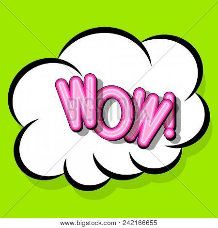 Cloud frame for wow expression, popart speech bubble.