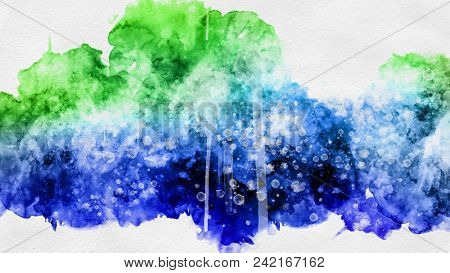Abstract watercolor sketch paint template texture.