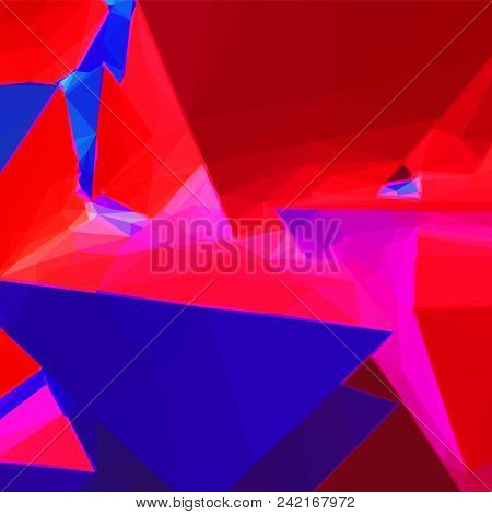 Abstract Background With Colorful Blue And Red Triangular Shapes