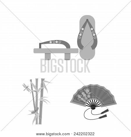 Country Japan Monochrome Icons In Set Collection For Design.japan And Landmark Vector Symbol Stock