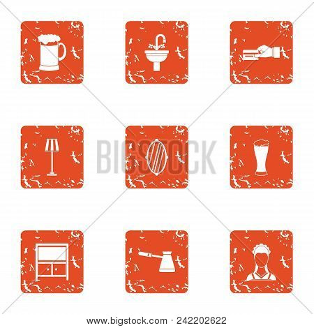 Cash Transfer Icons Set. Grunge Set Of 9 Cash Transfer Vector Icons For Web Isolated On White Backgr