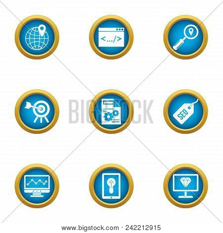 Genius Of Business Icons Set. Flat Set Of 9 Genius Of Business Vector Icons For Web Isolated On Whit
