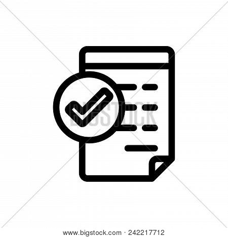 Approve Invoice Vector Icon Flat Style Illustration For Web, Mobile, Logo, Application And Graphic D