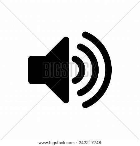 Audio Volume Vector Icon Flat Style Illustration For Web, Mobile, Logo, Application And Graphic Desi