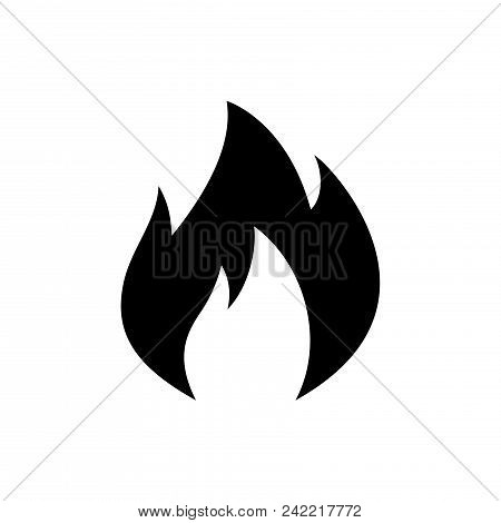 Fire Vector Icon Flat Style Illustration For Web, Mobile, Logo, Application And Graphic Design. Fire