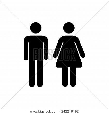 Toilet Man Women Vector Icon Flat Style Illustration For Web, Mobile, Logo, Application And Graphic