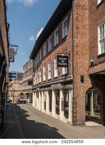 Shrewsbury, Shropshire, Uk - May 19, 2018: House Of Fraser Department Store In Shrewsbury  Shropshir