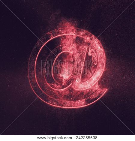 E-mail Symbol. E-mail Sign. Abstract Night Sky Background