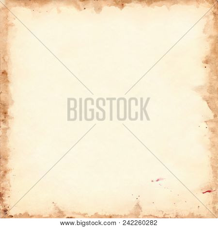 Vintage Retro Paper Sheet Grunge Square Background Texture
