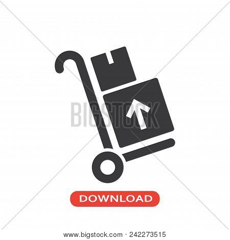 Delivery Package Vector Icon Flat Style Illustration For Web, Mobile, Logo, Application And Graphic