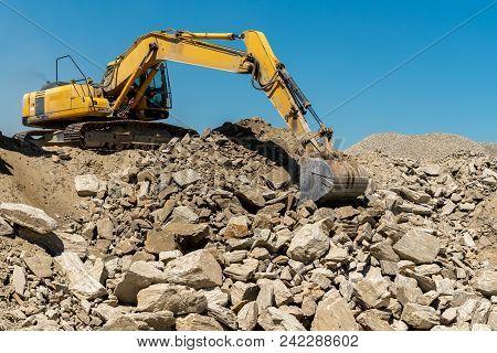 Machine Working In The Stone Mine