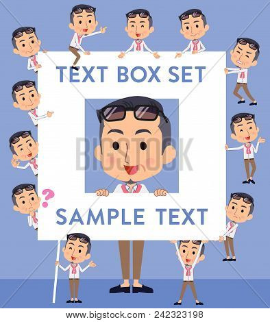 Set Of Various Poses Of Producer Middle Men_text Box