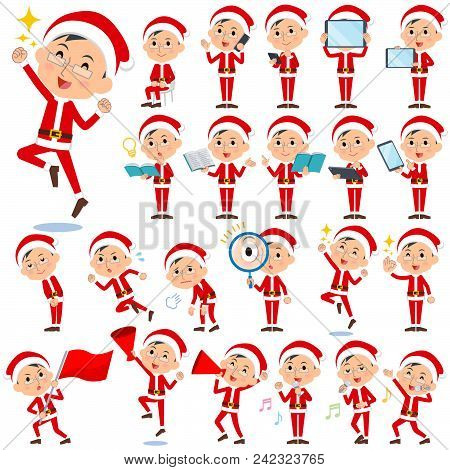 Set Of Various Poses Of Santa Claus Costume Dad_2