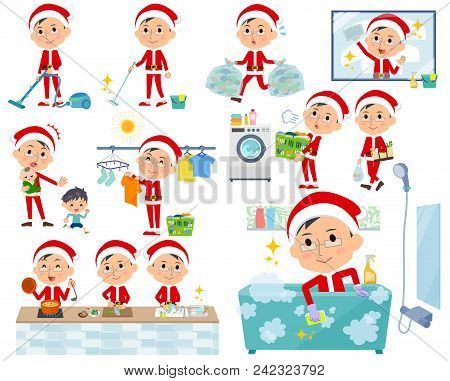 Set Of Various Poses Of Santa Claus Costume Dad_housekeeping