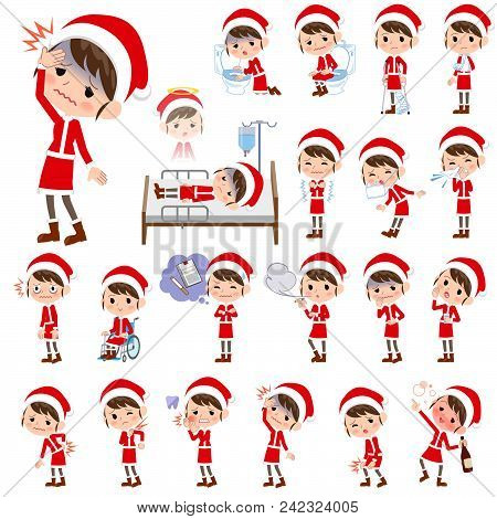 Set Of Various Poses Of Santa Claus Costume Mom_sickness