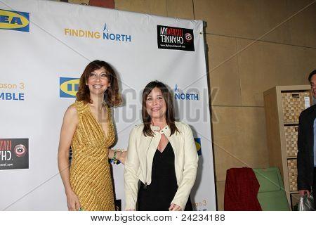 LOS ANGELES - OCT 10:  Illeana Douglas, Julie Warner arriving at the Web-series