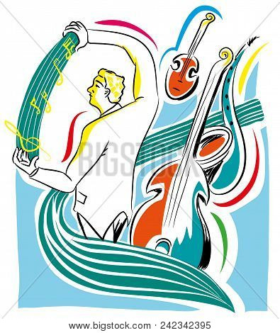 Musical Director And Music Instruments   Orchestral Conductor And Musical Notation.