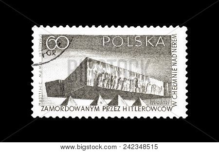 Poland - Circa 1965 : Cancelled Postage Stamp Printed By Poland, That Shows Monument Of  Struggle An