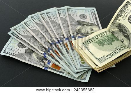 Old 100 Usa Dollars. Banknote Hundred Dollars And New Banknote Hundred Dollars