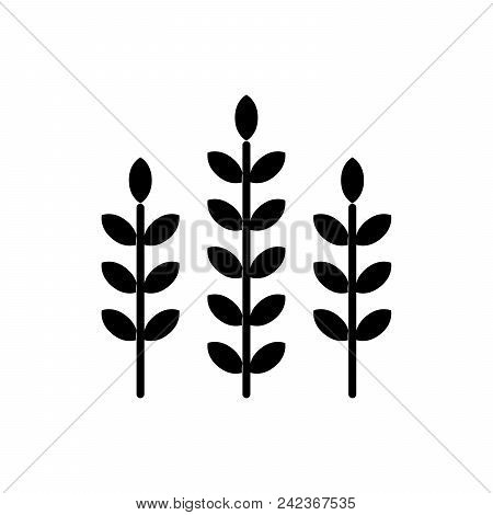 Cultivation Of Plants Black Icon Concept. Cultivation Of Plants Flat  Vector Website Sign, Symbol, I