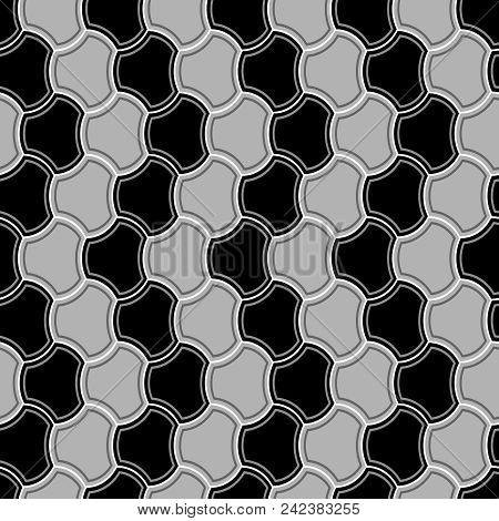 Seamless Vector Background Texture With Uncolored Tiles