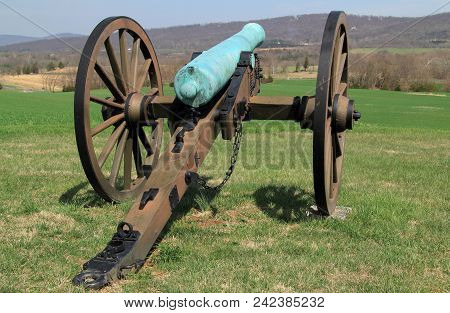 Sharpsburg, Md - April 14: Artillery Played A Key Role In Many Military Engagements Of The Civil War