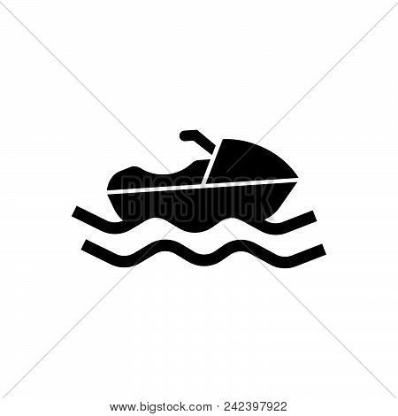 Sailing Boat Vector Icon On White Background. Sailing Boat Modern Icon For Graphic And Web Design. S