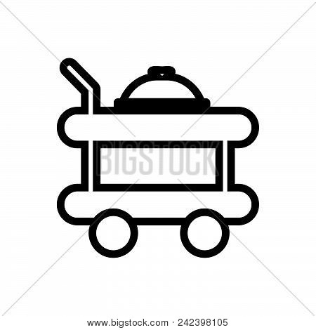 Room Service Vector Icon On White Background. Room Service Modern Icon For Graphic And Web Design. R