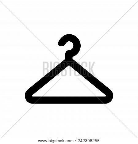 Hanger Vector Icon On White Background. Hanger Modern Icon For Graphic And Web Design. Hanger Icon S