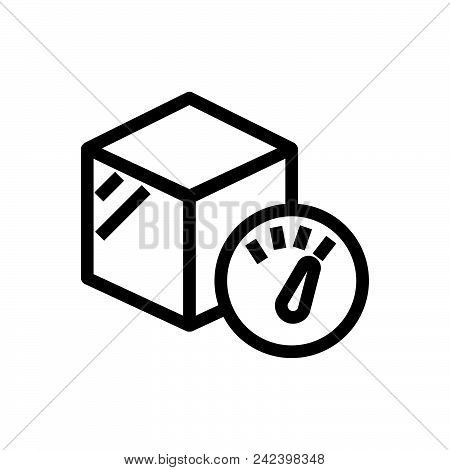 Package Weight Outlined Symbol Of Cargo Weight. Package Weight Icon. Package Weight Icon. Package We
